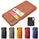 For Apple Iphone Xs Max Xr 6s 7 8 Plus Slim Leather Case Card Slot Holder Cover
