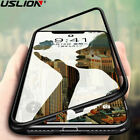 For iPhone X/8/7/6s/6 Case Luxury Magnetic Hard Frame Tempered Glass Back Cover
