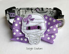 Mummy's Little Monster Halloween Dog Collar With Bow Size XS-L by Doogie Couture