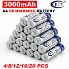 4-20X BTY AA/AAA Rechargeable Battery Recharge Batteries 1.2V 1000/3000mAh Ni-MH
