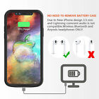 MFi 360°Full Body Protective Shockproof Heavy Duty 6000mAh Battery Case iPhone X
