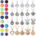 Harmony Ball Cage Leather Silver Locket Angel Caller Sound Bell Pendant Necklace image