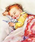 Sweet Sleeping Baby Crazy Quilt Block Multi Sizes FrEE ShiPPinG WoRld WiDE (B3