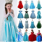 Princess Elsa Dress Fancy Costume Girls Party Kids Cosplay Frozen Christmas Lot image