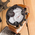 Fashion Curren Men Stainless Steel Leather Analog Quartz Sport Wrist Watch c1 image