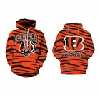 Cincinnati Bengals Hoodie Medium-XXL 2XL Unisex Men Women Football Sweatshirt on eBay
