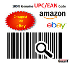 Barcodes EAN 13 UPC barcode bar code Numbers for Amazon &amp; eBay 50 - 100000 Codes <br/> 5 Min Delivery * Over 20M Sold * 24/7 Customer Service