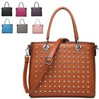 Ladies Stylish Studded Faux Leather Handbag Shoulder Bag Bucket Bag MW2438