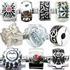 Clip Stopper Charms Beads for Ladies Womens Girls Kids Silver Charm Bracelets