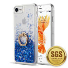 For IPhone 8 / 7 / 6 Plus Sparkle Bling Waterfall Liquid Ring Case