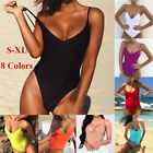 Womens Sexy Thong Swimsuit Bodysuit One-piece Swimwear Leotard Dancewear
