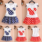 Summer Minnie Mouse Toddler Baby Girl Party Dress Sundress C
