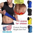 Hot Exercise Sweat Suits Waist Trimmer Neoprene Sports Vest Men Muscle Trainer