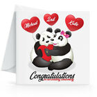 Personalised Wedding Anniversary Card with Pandas - Any Name or Year 1st,2nd,3rd