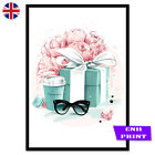 Fashion Art Prints Poster Vogue Wall Art Decor A4 Teal Salon Tiffany Salon