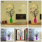 3D Flower Wall Stickers DIY Crystal Arcylic Removable Decal Art Mural Home Decor