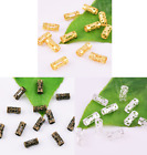 50pcs Metal Hair Braids Beads Hollow Tube for Dreadlocks Cuff Clips Wrap 8x4mm