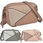 New Multi Panel Design Synthetic Leather Ladies Fashion Crossbody Bag