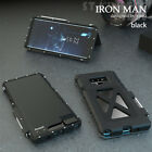 R-JUST Iron Man Aluminum Metal Armor Flip Case Cover For Samsung Galaxy Note 9