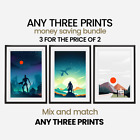 Money Saving Offer - 3 x Prints of your choice - Choose your size