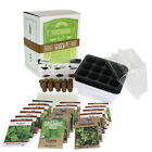 INDOOR CULINARY HERB GARDEN STARTER KIT - NON GMO SEEDS: BASIL, DILL, THYME