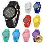 New Unisex Men Women Silicone Jelly Sports Wrist Quartz Analog Watch image