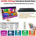 4TB HDD 87K Chinese,English Songs Android Karaoke Player,Jukebox, Cloud Update