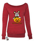 Womens Off Shoulder Sweater Trick Or Treat Halloween Mickey