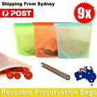 Reusable Silicone Food Preservation Bags Airtight Seal Food Storage Container AU