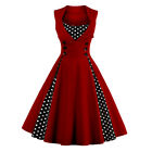 WOMENS 40's 50's RETRO VINTAGE SWING PARTY ROCKABILLY DRESS GOWN MAXIDRESS US