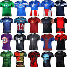 3D Superhero Marvel Compression T-shirt Short Sleeve Costume Jersey Muscle Tops image