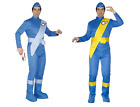 Mens Thunderbirds Scott and Virgil Fancy Dress Costume Cartoon 60s TV Stag - M+L