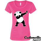 Panda Dabbing Women's T-Shirt Funny cute panda bear dancing party just dab shirt