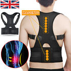 Neoprene Magnetic Posture Corrector Back Lumbar Shoulder Support Brace Men Women