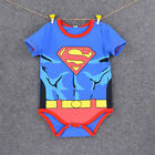 Newborn Baby Boys Infant Kids Superhero Rompers Playsuit Outfits Sleepwear Sets