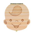 Milk Teeth Storage Box Wooden Organizer Tooth for Save Kids Holder Keepsake Case