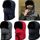 Mens Women Unisex Warm Trapper Aviator Trooper Earflap Winter Ski Hat With Mask