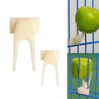 2X Birds Parrots Fruit Fork Pet Supplies Plastic Food Holder Feeding On Cage