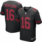 Joe Montana #16 San Francisco 49ers Men's Black Home Game Jersey