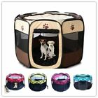 New Small Pet Dog Cat Tent Playpen Exercise Play Pen Soft Crate 8 Sided Portable
