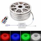 10-50M LED To the buff Rope Light RGB Flexible Lamp Waterproof+Remote Home Levee Decor