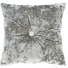 Catherine Lansfield Luxury Crushed Velvet Silver Duvet Cover Set or Accessories