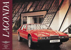 Aston Martin Lagonda Red 1976 Vintage Showroom Advertising Picture Poster A1 A3+
