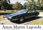 Aston Martin Lagonda Blue 1976 Vintage Showroom Advertising Picture Poster A1 A3