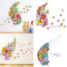 3d vivid feather butterfly birds flower wall stickers decal home mural diy decor