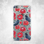 Halloween Raven Rose Evil Eye Soft Case For iPhone 6s 7 8 Plus Xs 11 Pro Max XR