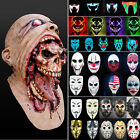 Halloween Zombie Scary Face Mask Costume Horror Prop Cosplay