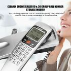 New Corded Phone with Caller ID Home Office Desk Wall Mount Landline Telephone