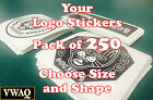 Custom Logo Stickers Pack of 250 Your Logo Design Vinyl Stic