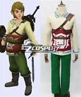 Legend of Zelda Skyward Sword Skyloft Link Cosplay Costume FF.2011